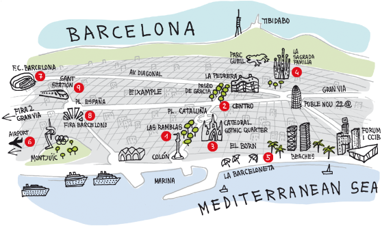 Places To Go In Barcelona Home: Barcelona Tourist Attractions Map At Infoasik.co